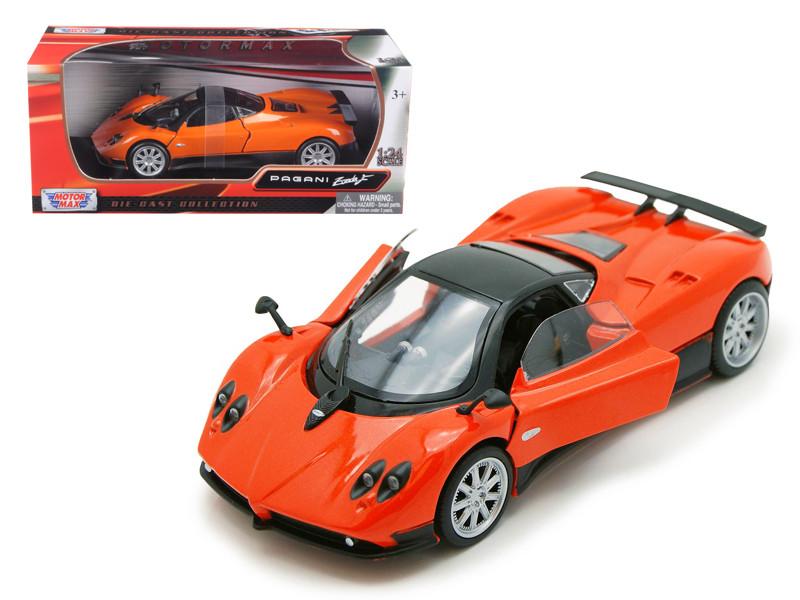 Pagani Zonda F Orange 1/24 Diecast Car Model Motormax 73369