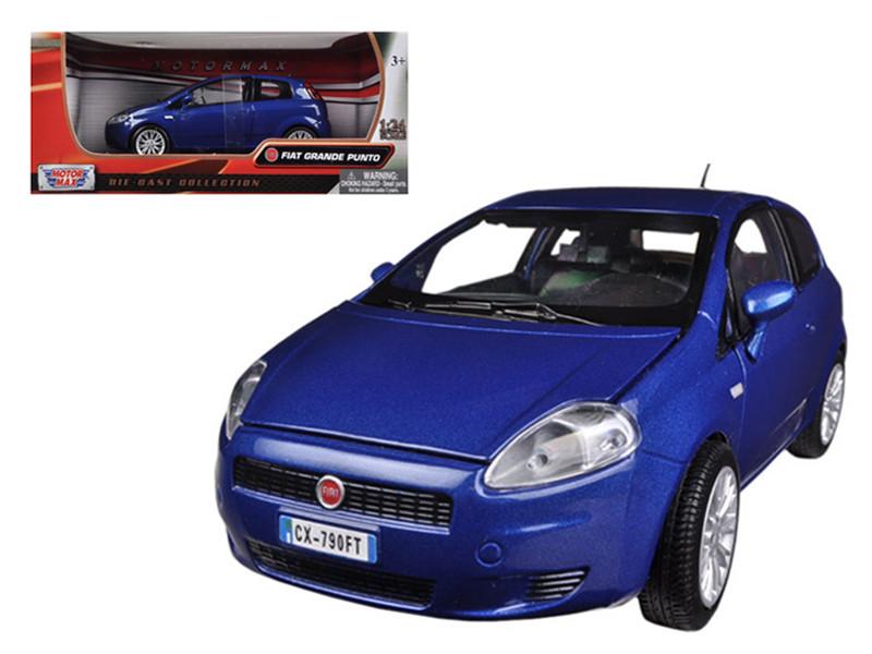 Fiat Grande Punto Blue 1/24 Diecast Car Model Motormax 73377