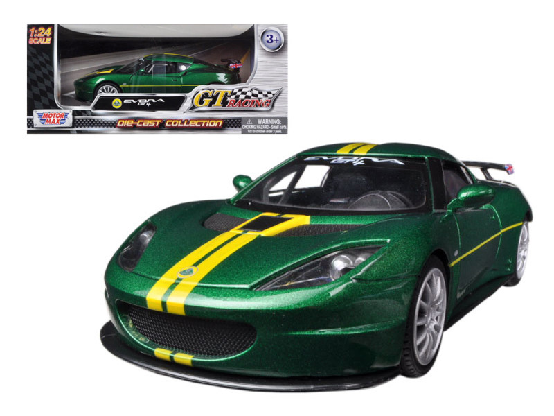 Lotus Evora GT4 Green GT Racing 1/24 Diecast Car Model Motormax 73771