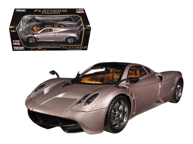 Pagani Huayra Champagne Gold Limited Edition / Platinum Collection 1/18 Diecast Model Car Motormax 77160