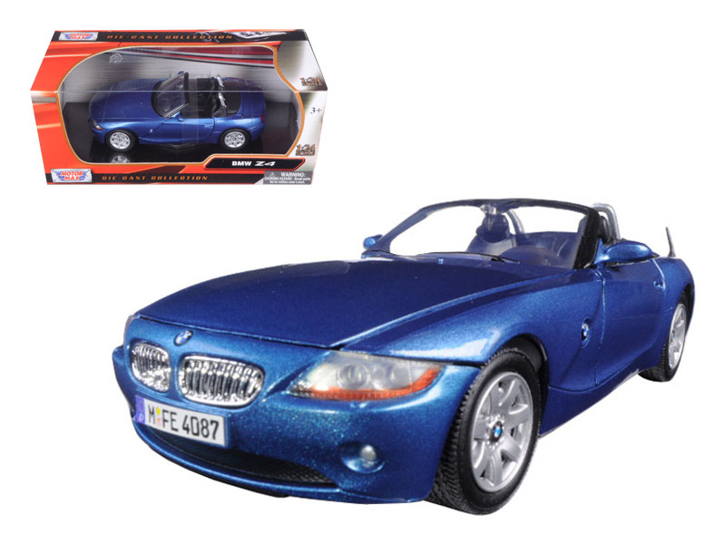 BMW Z4 Blue 1/24 Diecast Model Car Motormax 73269