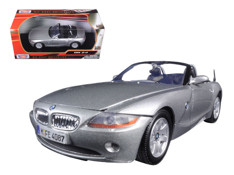 BMW Z4 Silver 1/24 Diecast Model Car Motormax 73269