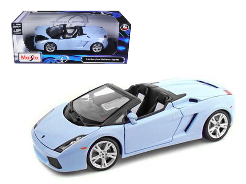 Lamborghini Gallardo Spyder Blue 1/18 Diecast Model Car