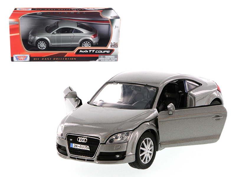 2007 Audi TT Coupe Grey 1/24 Diecast Car Model by Motormax