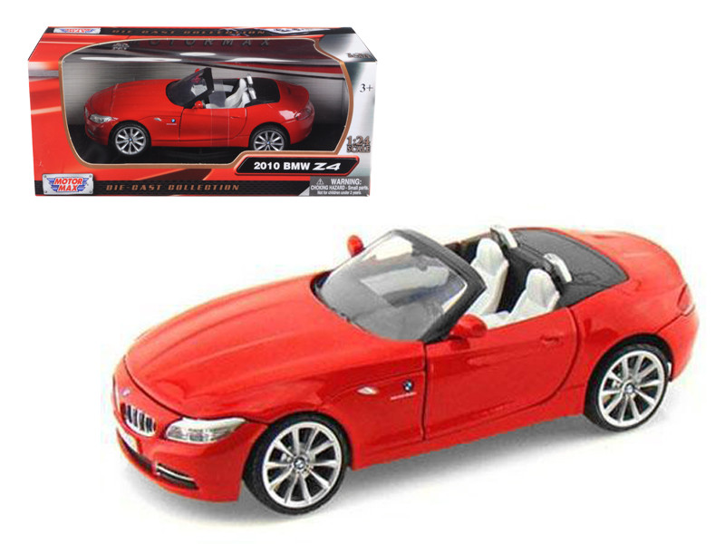 2010 BMW Z4 Convertible Red 1/24 Diecast Model Car by Motormax