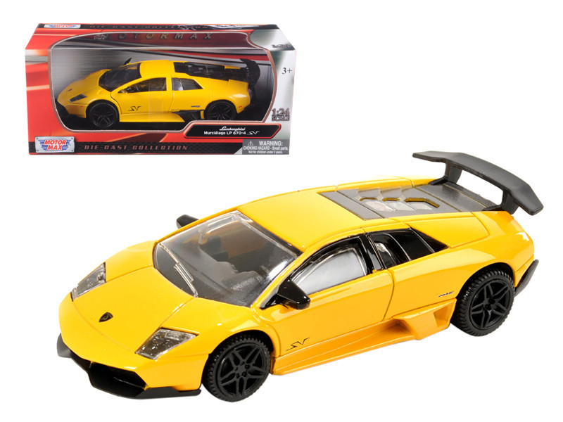Lamborghini Murcielago LP 670 4 SV Yellow 1/24 Diecast Model Car Motormax 73350