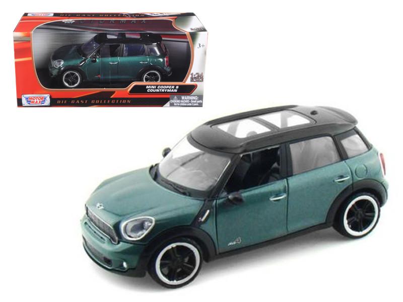 Mini Cooper S Countryman Oxford Green 1/24 Diecast Car Model by Motormax