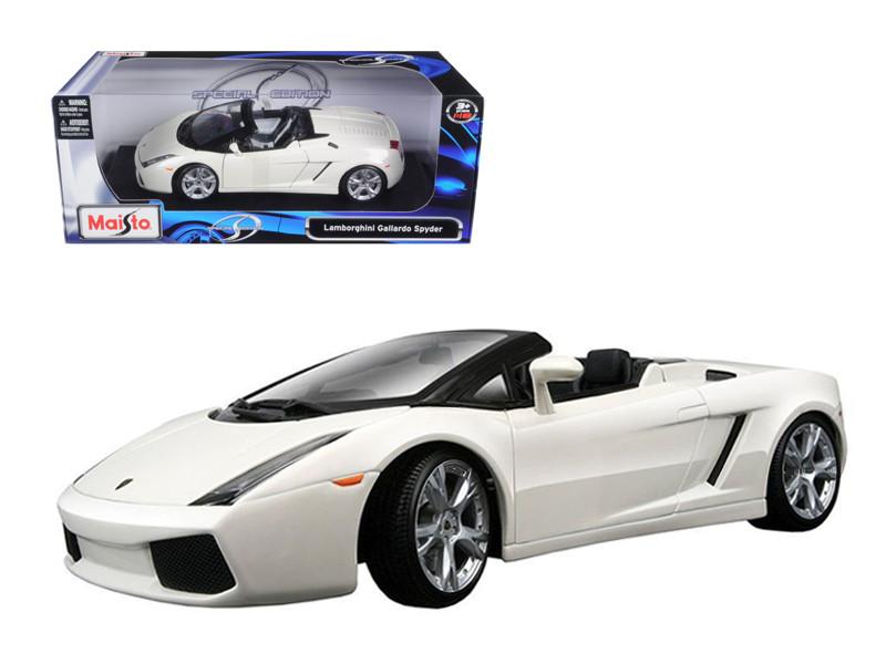 Lamborghini Gallardo Spyder White 1/18 Diecast Model Ca