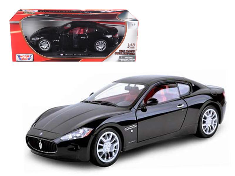 Maserati Gran Turismo Black 1/18 Diecast Car Model by Motormax
