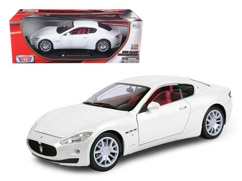 Maserati GT Gran Turismo White 1/18 Diecast Car Model by Motormax