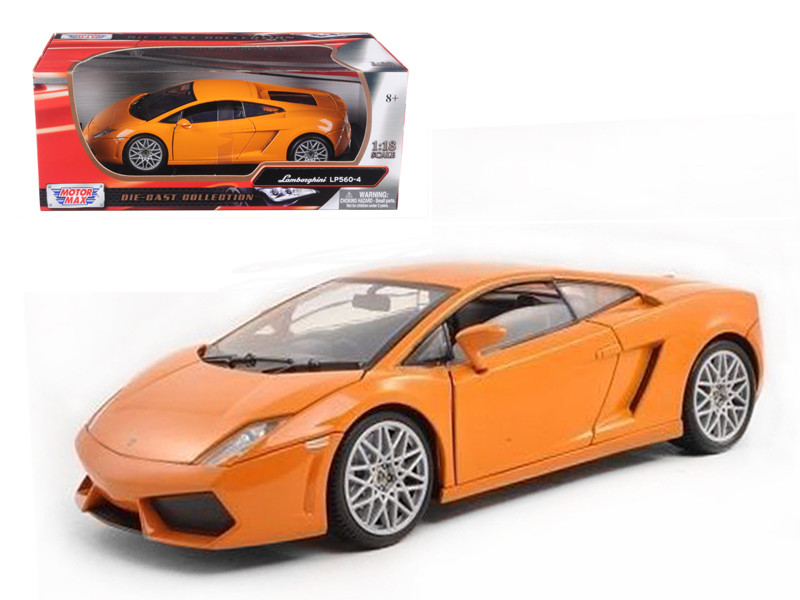 Lamborghini LP 560-4 Orange 1/18 Diecast Car Model Motormax 79152