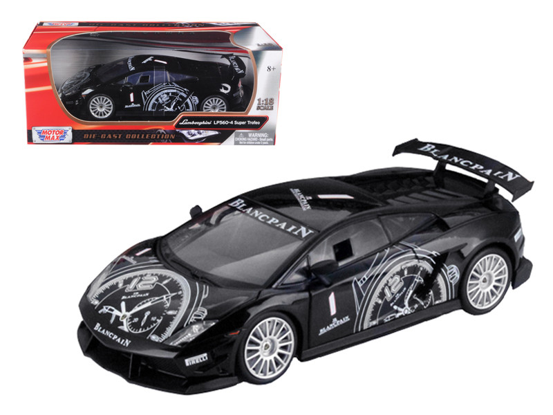 Lamborghini Gallardo LP560-4 Super Trofeo Black 1/18 Diecast Model Car Motormax 79153