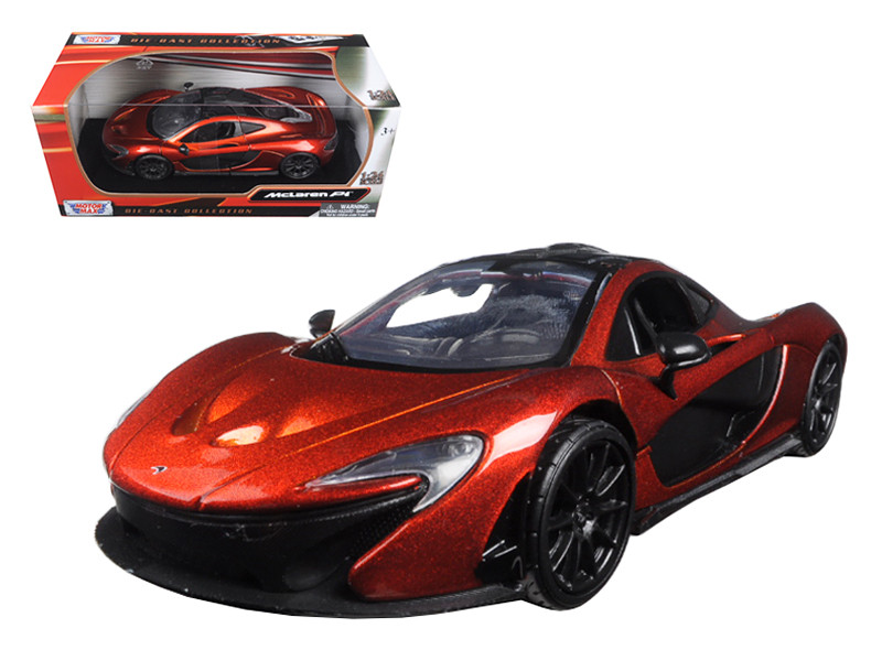 McLaren P1 Orange 1/24 Diecast Model Car by Motormax