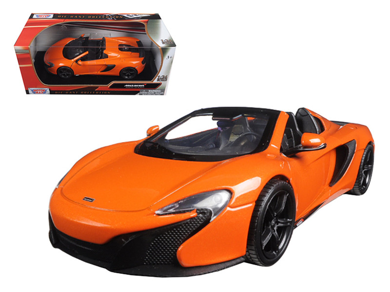McLaren 650S Spider Orange 1/24 Diecast Model Car by Motormax