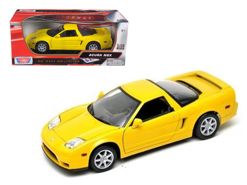 Acura NSX Yellow 1/18 Diecast Model Car Motormax 73140