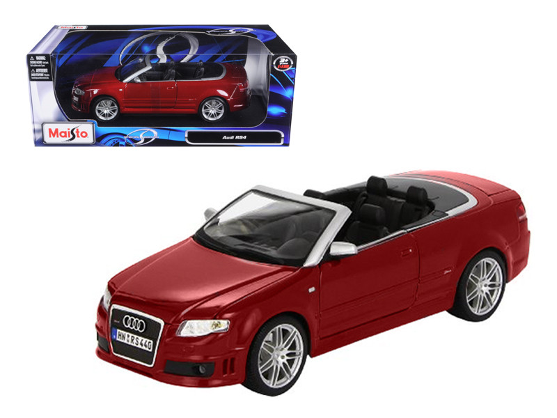 Audi RS4 Convertible Red 1/18 Diecast Model Car Maisto 31147