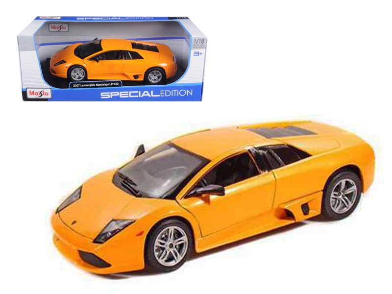 2007 Lamborghini Murcielago LP640 Orange 1/18 Diecast Model Car by Maisto