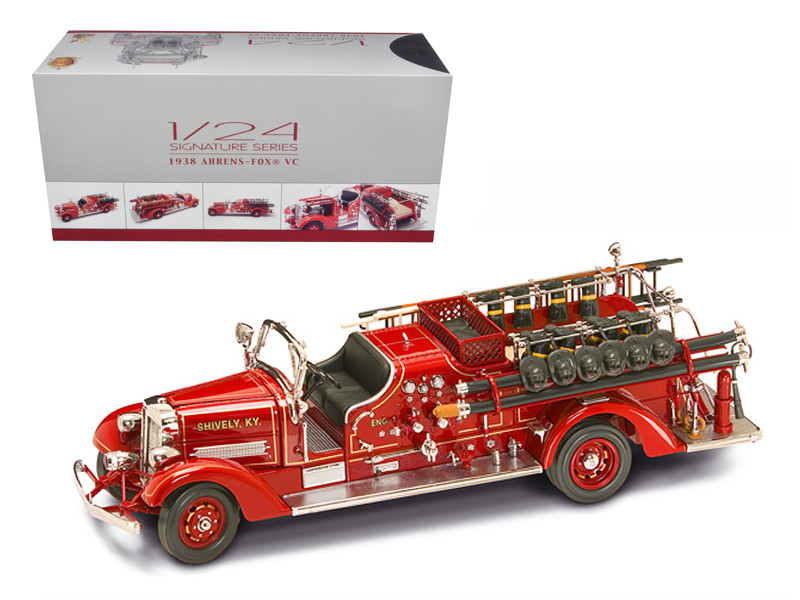 1938 Ahrens Fox VC Fire Engine Truck Red with Accessories 1/24 Diecast Model Road Signature 20178