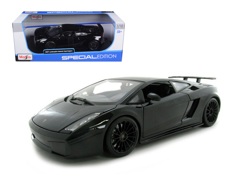 2007 Lamborghini Gallardo Superleggera Black 1/18 Diecast Model Car by Maisto