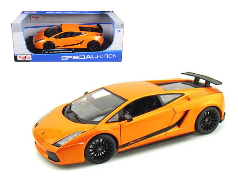 2007 Lamborghini Gallardo Superleggera Orange 1/18 Diecast Model Car by Maisto