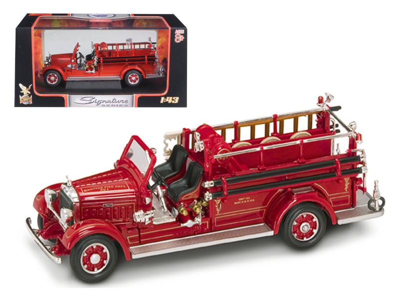1935 Mack Type 75BX Fire Engine Red 1/43 Diecast Model Car by Road Signature