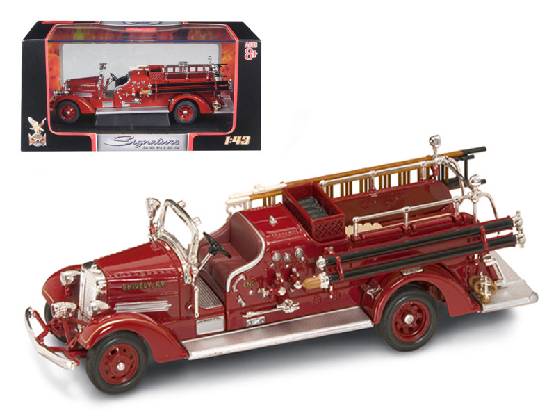 1938 Ahrens Fox VC Fire Engine Red 1/43 Diecast Model Car by Road Signature