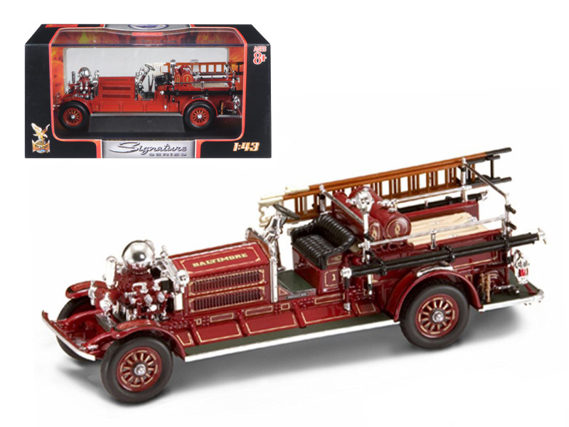 1925 Ahrens Fox N-S-4 Fire Engine Red 1/43 Diecast Car Model Road Signature 43004