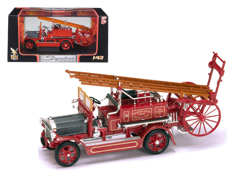1921 Dennis N Type Fire Engine Red 1/43 Diecast Car Model by Road Signature