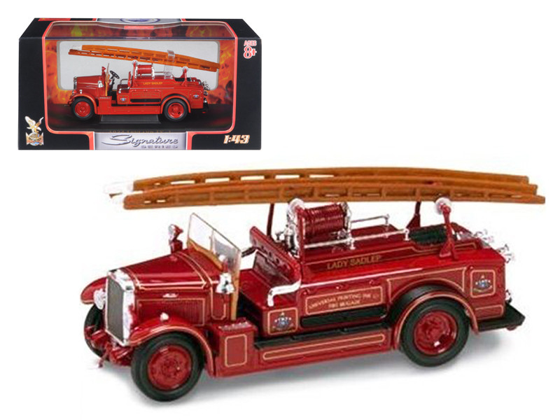 1934 Leyland FK-1 Fire Engine Red 1/43 Diecast Car Model by Road Signature