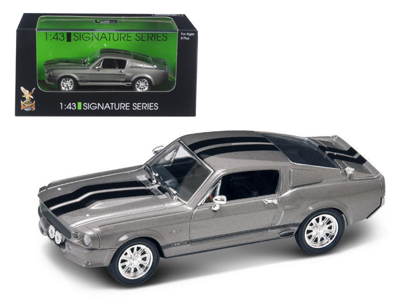 1967 Shelby Mustang GT 500E Grey Signature Series 1/43 Diecast Model by Road Signature