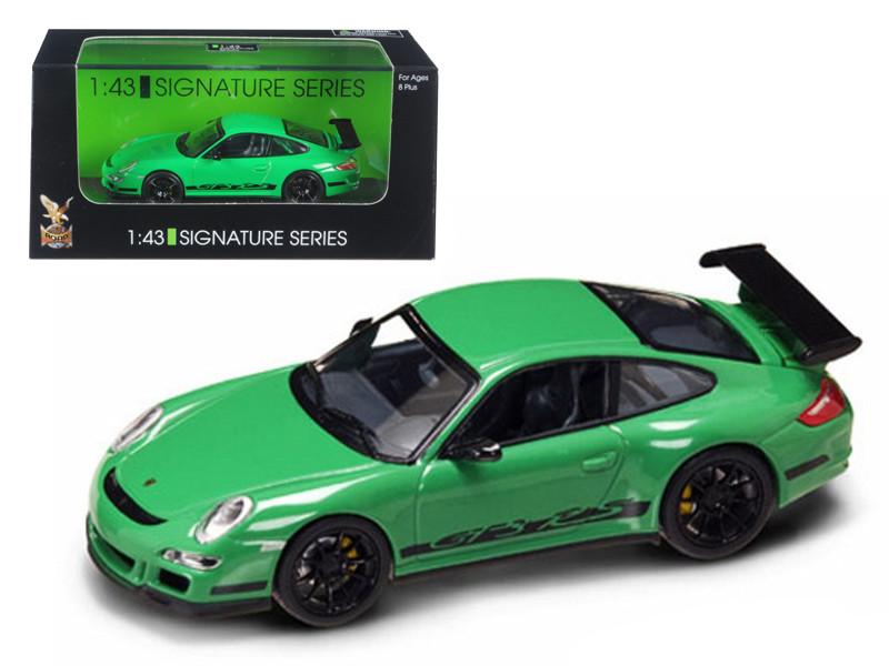 Porsche 911 997 GT3 RS Green 1/43 Diecast Car Model Road Signature 43204
