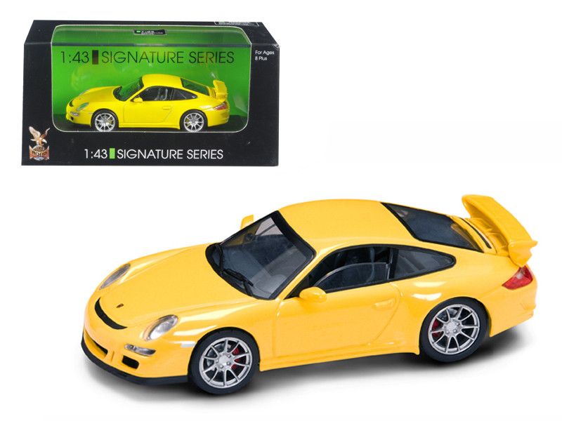 Porsche 911 997 GT3 Yellow Signature Series 1/43 Diecast Model Car Road Signature 43205
