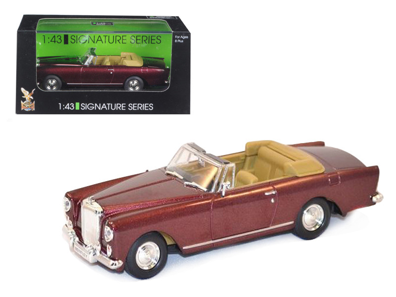1961 Bentley Continental S2 Park Ward DHC Convertible Burgundy 1/43 Diecast Car Model by Road Signature
