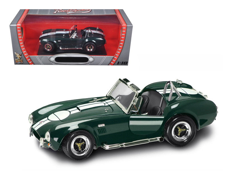 1964 Shelby Cobra 427 S/C Green 1/18 Diecast Model Car by Road Signature