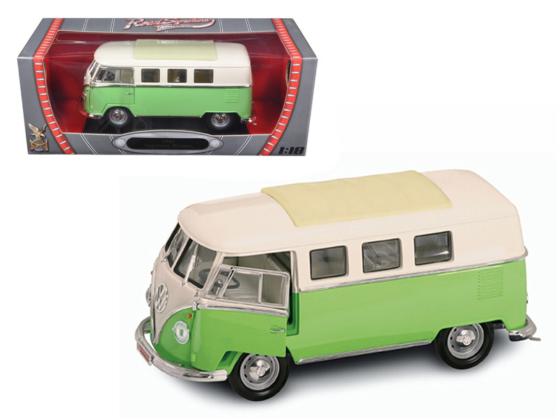 1962 Volkswagen Microbus Light Green 1/18 Diecast Car Model Road Signature 92328