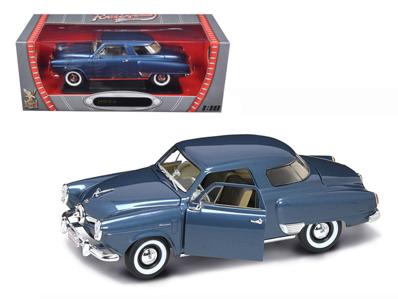 1950 Studebaker Champion Blue 1/18 Diecast Car Model by Road Signature 92478