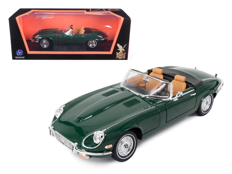 1971 Jaguar E Type Green 1/18 Diecast Model Car by Road Signature