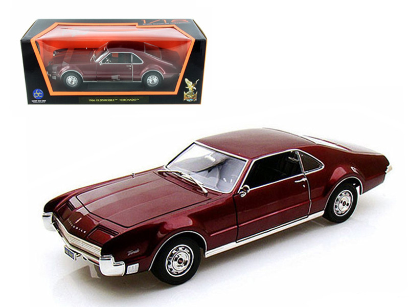 1966 Oldsmobile Toronado Burgundy 1/18 Diecast Car Model by Road Signature
