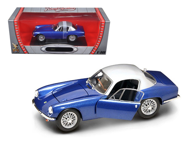 1960 Lotus Elite Dark Blue 1/18 Diecast Model Car Road Signature 92768