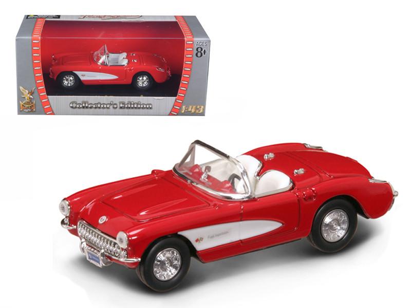 1957 Chevrolet Corvette Red 1/43 Diecast Car Model Road Signature 94209