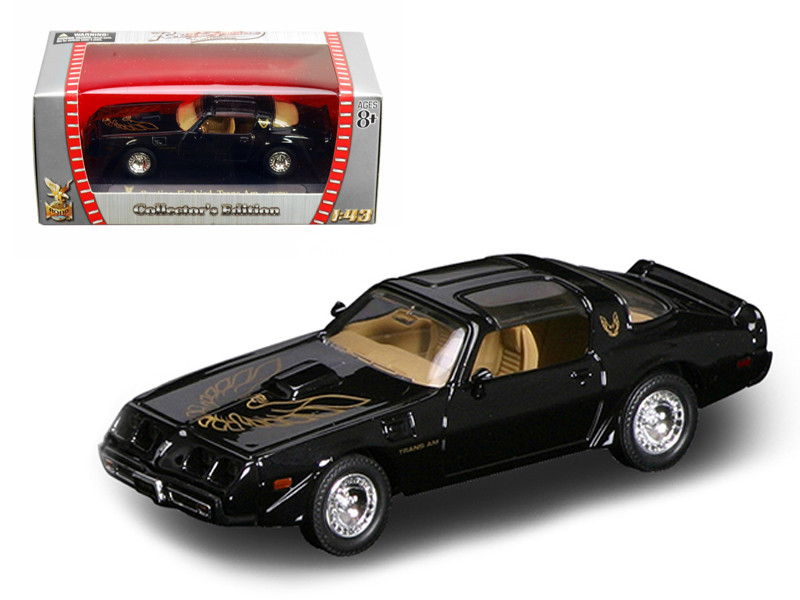1979 Pontiac Firebird Trans Am Black 1/43 Diecast Car b