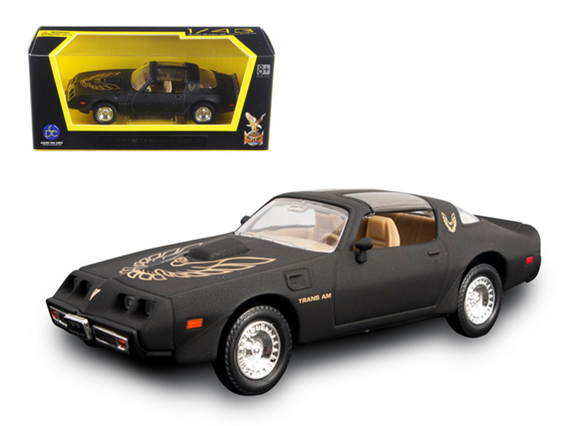1979 Pontiac Firebird Trans Am Matt Black 1/43 Diecast