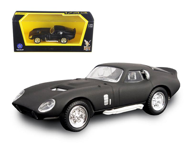 1965 Shelby Cobra Daytona Coupe Matt Black 1/43 Diecast Model Car Road Signature 94242
