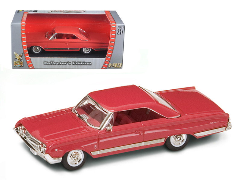 1964 Mercury Marauder Red/Cinnamon 1/43 Diecast Model Car by Road Signature