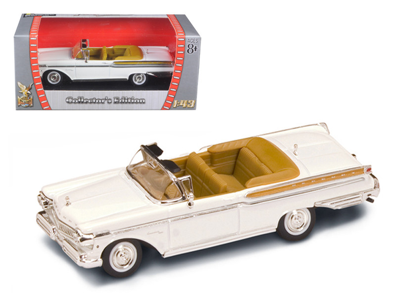 1957 Mercury Turnpike Cruiser White 1/43 Diecast Model Car by Road Signature