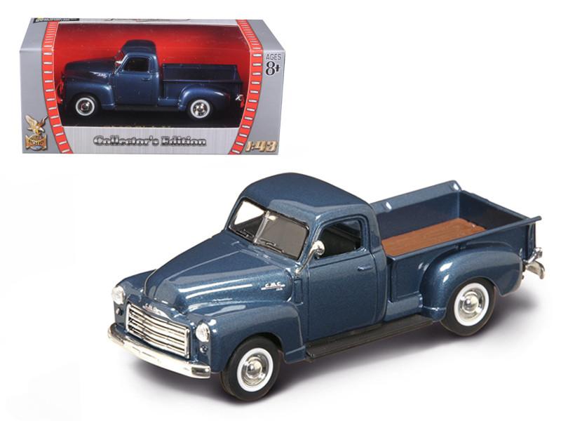 1950 GMC Pickup Truck Dark Blue 1/43 Diecast Model Car by Road Signature