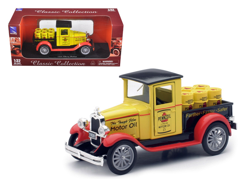 """1928 Chevrolet Pick Up Truck \'Pennzoil\ 1/32 Diecast Model by New Ray"""""""