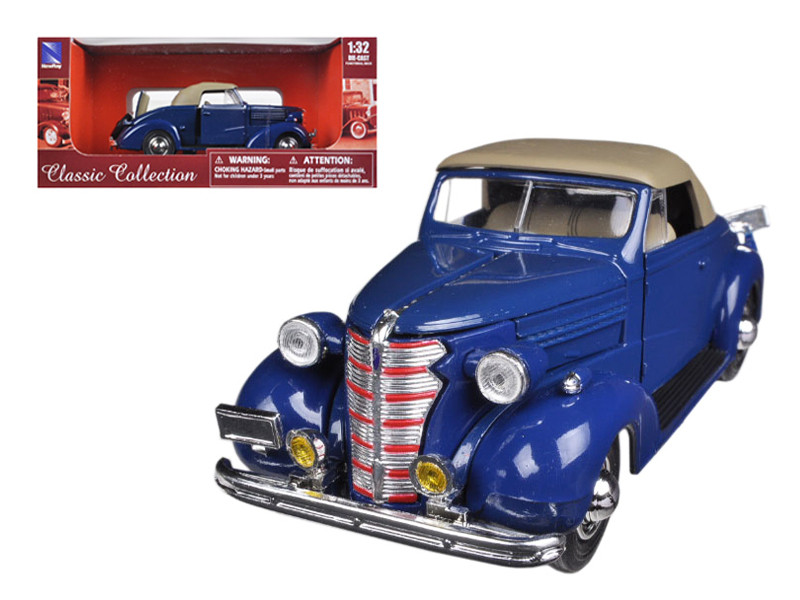 1938 Chevrolet Master Convertible Blue 1/32 Diecast Model Car by New Ray