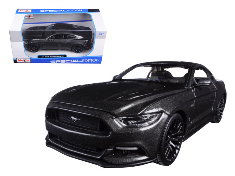 2015 Ford Mustang GT 5.0 Grey 1/24 Diecast Model Car Maisto 31508