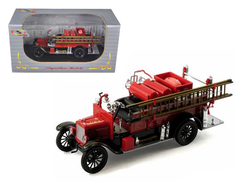 1926 Ford Model T Fire Engine Red/Black 1/32 Diecast Model Car Signature Models 32313